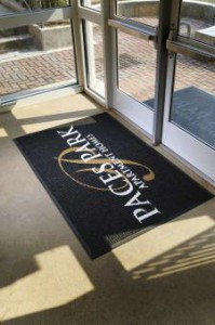 Entrance mats provide a nice contrast to minimalism.